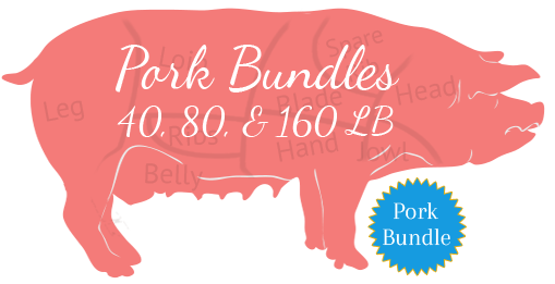Colorado Pastured Pork Bundles, 40, 80, 160#