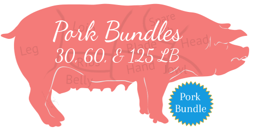 Paleo Pork Bundle 30, 60, 125 lb